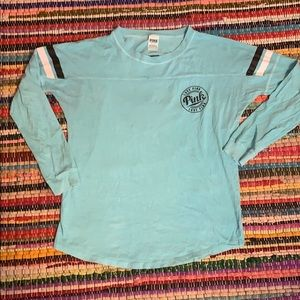 Pink Victoria's Secret teal tunic tee small